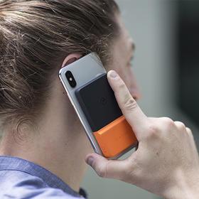 【为思礼】Brickspower手机无线充电宝 一贴即用 想充就充 纳米吸附充电方便 粘贴手机移动电源 便携充电宝
