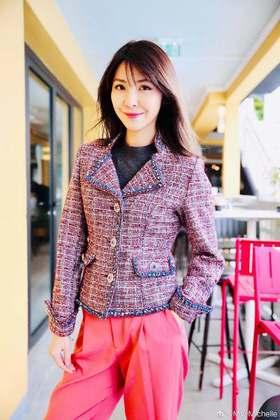 预售 MAISON COVET自有品牌 紫红色粗花呢短款外套