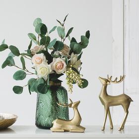 欧式美式招财鹿装饰摆件家居客厅酒柜电视柜装饰品摆设结婚礼物