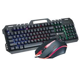 【键鼠套餐】前行者GT5金属键盘机械手感7彩虹背光键盘游戏键盘鼠标套装T6键鼠
