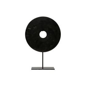 黑色玉片φ25φ20black disk with stand WBH18110029