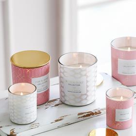 创意时尚家用室内持久香薰蜡烛清新无烟安神助眠居家装饰摆件蜡烛