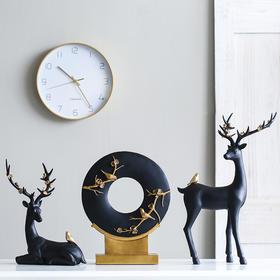 创意北欧风格鸭子麋鹿摆件家居饰品客厅玄关电视柜书房轻奢摆件