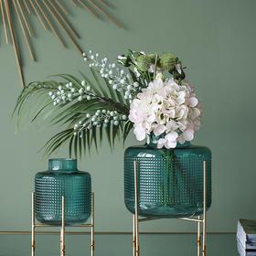 北欧风美式玻璃花瓶欧式轻奢装饰品电视柜酒柜客厅插花干花小花瓶