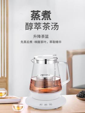 新功S32小型煮茶器玻璃电茶炉黑茶普洱茶泡茶壶烧水壶家用全自动