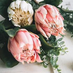 米子家居 仿真帝王花假花绢花 餐桌整体花艺客厅干花插花花束