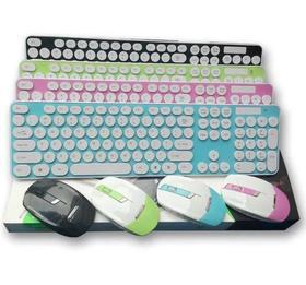 【键鼠套餐】2.4G无线键鼠套装七彩圆键帽无线鼠标键盘套装