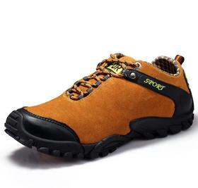 【潮流鞋子】秋季登山鞋男鞋防水运动徒步鞋越野跑鞋春秋真皮透气户外鞋男