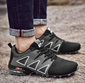【潮流鞋子】外贸跨境大码登山鞋透气轻便减震气垫户外防滑耐磨运动徒步越野鞋