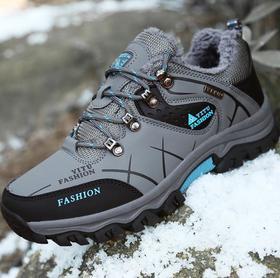 【潮流鞋子】外贸冬季男士加绒登山鞋低帮大码棉鞋越野跑鞋防滑户外鞋