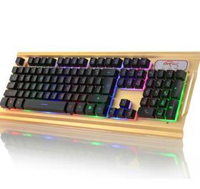 【键盘】七彩背光键盘cf lol专业游戏键盘发光usb有线游戏键