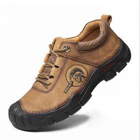 【潮流鞋子】徒步登山鞋男鞋真皮户外鞋轻便运动越野鞋透气防滑爬山鞋牛皮软底