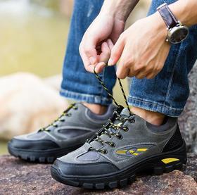 【潮流鞋子】登山鞋男越野跑鞋户外徒步鞋防水防滑耐磨透气运动旅游鞋工作鞋子