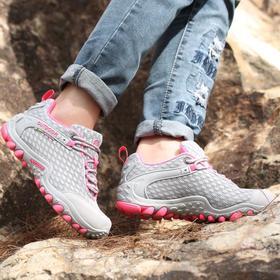 【潮流鞋子】透气登山鞋女防滑休闲徒步鞋情侣运动户外鞋网面越野跑鞋