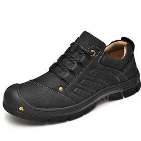 【潮流鞋子】真皮磨砂牛皮户外休闲皮鞋男士软底徒步登山旅游鞋越野鞋四季单鞋