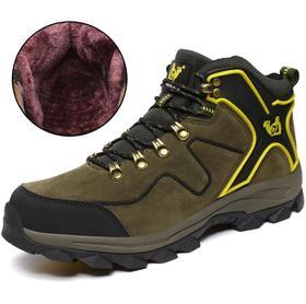 【潮流鞋子】冬季加棉高帮保暖登山鞋 户外运动鞋防水徒步鞋越野鞋