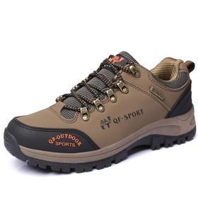 【潮流鞋子】户外登山鞋—男士牛皮登山鞋防滑耐磨低帮户外登山鞋男士越野跑鞋