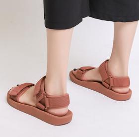 【潮流鞋子】运动凉鞋女ins潮魔术贴仙女夏季新款百搭休闲韩版平底沙滩鞋