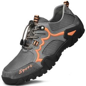 【潮流鞋子】秋冬季运动鞋男大码户外休闲鞋防滑登山鞋真皮越野徒步鞋耐磨