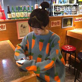服装女装2019新款秋冬韩版宽松长袖网红套头毛衣女学生针织衫外套潮6856