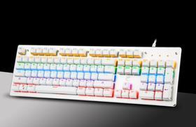 【机械键盘】蒸汽朋克复古圆键帽真机械键盘青轴104键背光有线