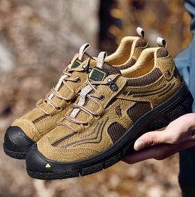 【潮流鞋子】户外休闲鞋登山越野徒步鞋低帮系带防滑防撞鞋头