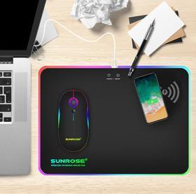 【鼠标垫】QI游戏鼠标垫RGB发光鼠标垫