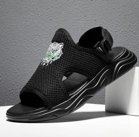 【潮流鞋子】新款厚底凉鞋男潮透气网面青春潮流沙滩鞋户外夏季凉拖鞋男