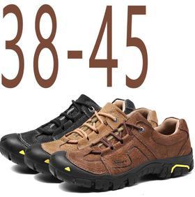 【潮流鞋子】跨境越野跑鞋欧美户外真皮登山鞋户外低帮户外徒步男士登山鞋
