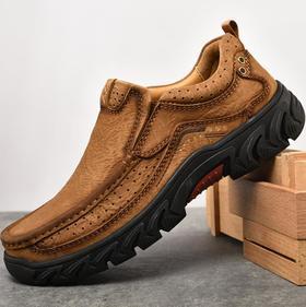 【潮流鞋子】 新款时尚运动休闲男鞋复古户外徒步登山鞋孔洞透气缓震安全鞋