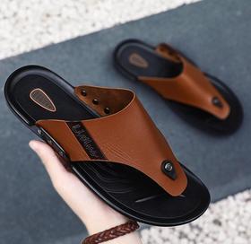 【潮流鞋子】拖鞋男夏季人字拖男防滑沙滩鞋厚底英伦男士凉鞋夹脚潮男凉拖