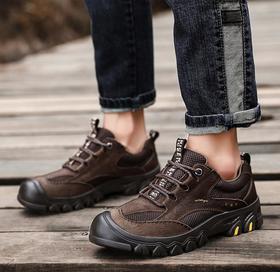 【潮流鞋子】真皮户外鞋男登山鞋防滑徒步鞋运动鞋爬山鞋旅游鞋网布鞋