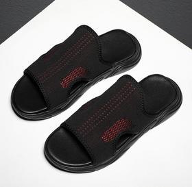 【潮流鞋子】夏季凉鞋男一件代发透气新款飞织沙滩鞋 潮流懒人户外拖鞋男