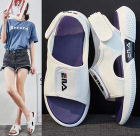 【潮流鞋子】凉鞋新款夏季凉鞋女莱卡透气沙滩鞋百搭舒适魔术贴鞋女潮