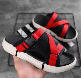 【潮流鞋子】拖鞋男夏时尚外穿室外网红潮牌凉拖潮流韩版个性男士沙滩两用凉鞋