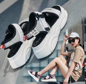 【潮流鞋子】凉鞋女夏平底学生简约百搭新款韩版沙滩鞋夏季网红运动女鞋子