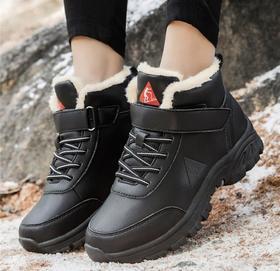 【潮流鞋子】冬季棉鞋男女士雪地靴加绒保暖高帮户外休闲鞋防滑厚底徒步登山鞋