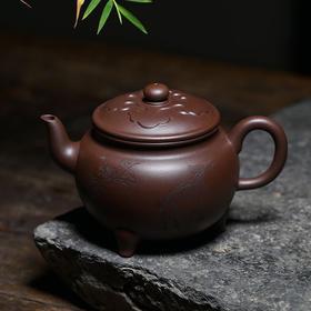 国家级工艺美术师刘华手工制紫砂壶——大彬如意