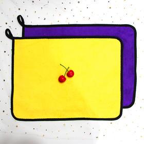 擦手巾30*40灰黄灰紫