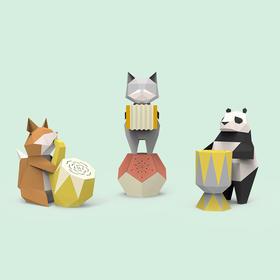 【为思礼】HYM LAB动物嘉年华折纸蓝牙音箱 清晰悦耳 时尚有型 原创趣味折纸创意个性DIY动物喇叭 手工蓝牙音箱
