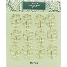 never绿植系列异形回形针仙人掌树叶造型曲别针12枚