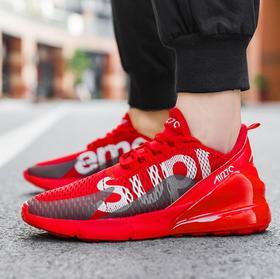 【网球鞋】男鞋飞织运动潮鞋轻便透气网面休闲鞋气垫百搭学生跑步鞋