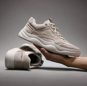 【网球鞋】真皮潮男板鞋英伦风休闲单鞋网红潮鞋