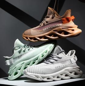 【网球鞋】男鞋情侣鞋透气飞织面反光刀锋小白鞋休闲跑步鞋增高老爹男鞋