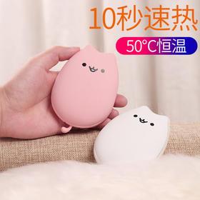 胖猫新款暖手宝充电宝两用迷你USB充电式创意礼品随身便携