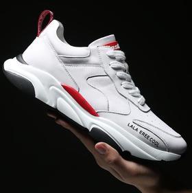 【网球鞋】新款头层牛皮小白鞋韩版休闲鞋时尚单鞋男士真皮男鞋