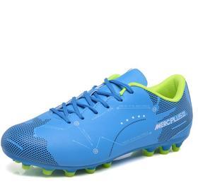 【足球鞋】男女式儿童足球鞋低帮皮面胶钉长钉碎钉平底草地水泥地平底室内TF