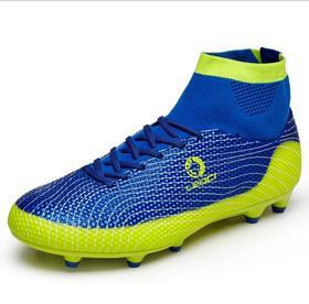 【足球鞋】高帮足球鞋飞织套脚儿童青少年成人TF胶钉长钉底FG碎钉平底训练鞋