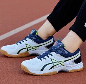 【网球鞋】新款排球鞋男比赛训练鞋46大码情侣网球鞋女系带防滑乒乓球鞋