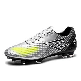 【足球鞋】男子足球鞋春秋低帮皮面时尚长钉胶钉比赛草地训练运动